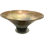Kathy Erteman American New York Studio Pottery Conical Iridescent Bowl Cup