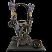 Nancy Yturriaga Adams Sculptural Teapot & Cup Oregon Studio Pottery