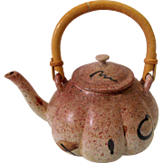 Teapot Signed Chalie Piatt Oregon Pacific NW Red Speckled Studio Pottery