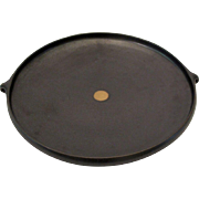 Contemporary Minimalist Art Pottery Large Round Platter Dish Chris Staley