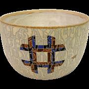 Palimpsest Text Alphabet And Thats Reality Large Pot Bowl Vase Kristensen