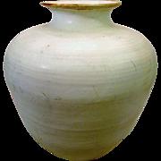 Signed Junichi Tanaka Large White Studio Pot Floor Vase Statement Piece