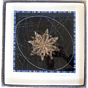 Rene Rickabaugh Mixed-Media 3D Art Construction 1983 LAZY STAR FLAKE
