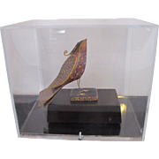 Oregon Art Rene Rickabaugh Multi-Media Bird Sculpture FEATHERED FRIEND