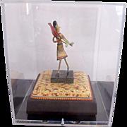 Oregon Art RENE RICKABAUGH Multi-Media Figural Sculpture FLOWER GIRL in Case