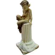 Royal Copenhagen Flute Faun on Pillar w/Squirrel 456 Christian Thomsen 1924-34