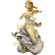CYBIS 1979-1982 Sharmaine The Sea Nymph Mermaid On Rocks Sculpture w/Case