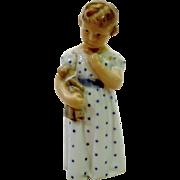 Young Girl w/ Doll by Royal Copenhagen #3539 Adda Bonfils Design 1956 Figurine