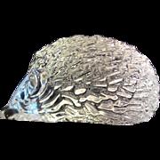 Daum France Crystal Hedgehog Animal Paperweight Signed Art Glass Figurine