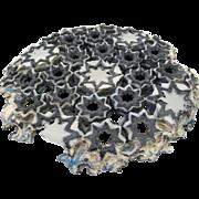 Steve Brown Powder Printed & 3D Fused Glass Geometric Star Sculpture UK