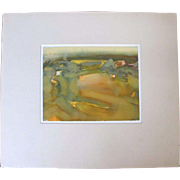 Oregon Artist HANK KOWERT Signed Original Watercolor Painting COASTAL STUDY