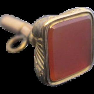 Victorian Carnelian 10k Yellow Gold Pocket Watch Key