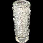 Frantisek VIZNER Studio Bohemian CZECH Clear Crystal Art Glass BUBBLE Vase