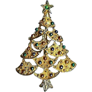Gerry's Holiday Christmas Tree Brooch Pin Nice!