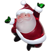 Whimsical dancing Santa Claus light up Brooch Cute!