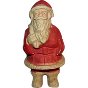 Vintage Paper Mache Santa Claus Candy container decoration
