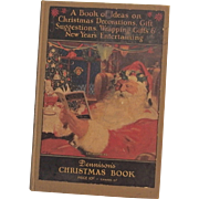 Christmas issue Dennison's Christmas Book hardcover Dennison Company 1926 Santa Cover Nice!