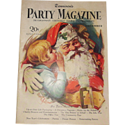 Dennison's Party Magazine 1927 December Christmas with Santa cover issue hard to find!