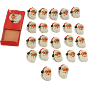Santa Clause face/head seals/stickers Christmas decoration Dennison Company 1940's