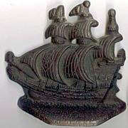 Cast iron Spanish Galleons Bookends/Door stops