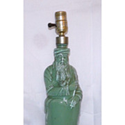Vintage Moses Bottle Hiram-Ricker/Son Converted To Lamp
