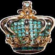 Corocraft Golden Jubilee Crown - brooch  - Designer Adolph Katz Coro Company 1951
