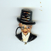 Charlie McCarthy articulated pin Coro 1937 Cute!