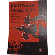 Dennison's Halloween Suggestions The new Bogie Book 1931 Halloween issue Excellent!