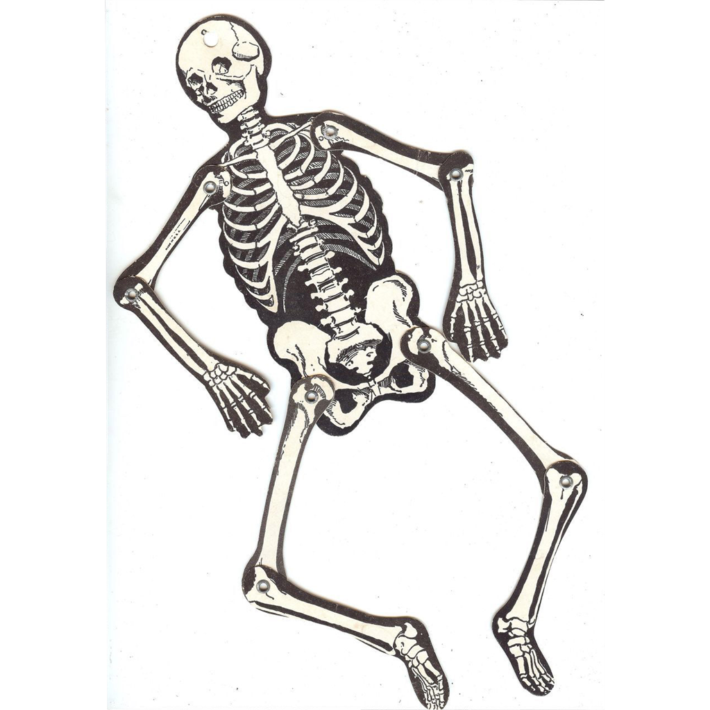 Vintage Joined Skeleton Halloween Decoration Beistle Company 1940s Gaspee Sales