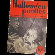 Dennison's Halloween Parties magazine 1935 Halloween issue