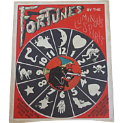 Fortunes By the Luminous Spirit Game Halloween board game 1940's