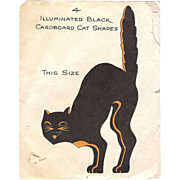Illuminated Black Cat Halloween decoration Hall Brothers 1928