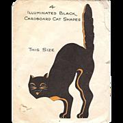 Illuminated Black Cat Halloween decoration Hall Brothers 1928