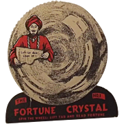 BEISTLE U.S.A. 1948 Vintage Halloween Decoration Fortune Crystal Game #1 Nice
