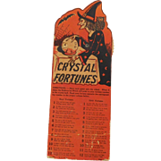 The Witch's Crystal Fortunes Game for Halloween parties and Halloween Decorating Beistle Company 1941