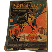 Dennison's Party Magazine 1927 Halloween October – November hard cover issue hard to find!