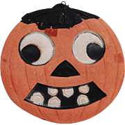 Small Jack O Lantern cardboard Halloween decoration – German 1920s