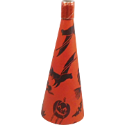 Halloween decoration – Cardboard Lithographed paper over cardboard foil tip horn Bugle Toys 1950s