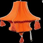 Large size orange Halloween elegant paper lantern 1930's Germany