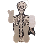 Vintage Skeleton Dancer Halloween Decoration USA Beistle Company 1948 – 1964
