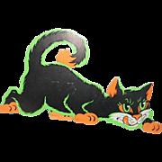 Beistle black cat cardboard Halloween decoration