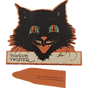 Halloween party decoration cat Tongue Twister game Gibson Art 1928