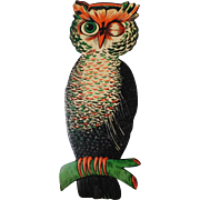 Large vintage Owl decoration Beistle Co. nice condition