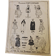 "Vintage Dennison Halloween Costume Mother Goose a ""Dennison's Party Costume"" with its original envelope."