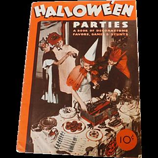 Dennison's Halloween Parties magazine 1934 Halloween issue Bogie Book Rare