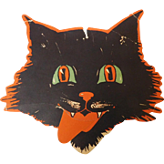 Halloween party decoration cat Tongue Twister game Gibson Art 1928 Fair