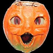 Halloween decoration pulp Paper Mache Smaller Choir Jack O Lantern Made in the USA 1940's