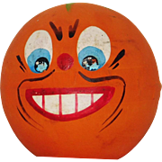 Vintage Anthropomorphic Pumpkin Jack O Lantern Head candy container  Halloween decoration made in Germany