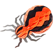Fun Spooky Spider cardboard and honeycomb crepe paper Halloween decoration