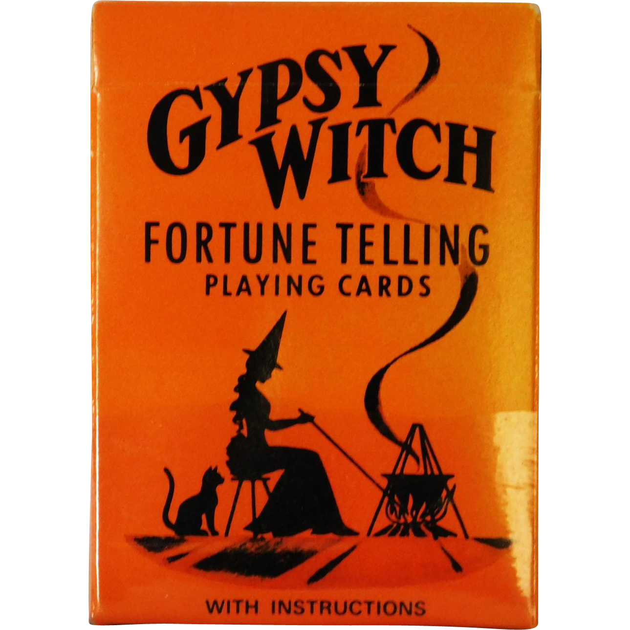 Fun Vintage Halloween Gypsy Witch Fortune Telling Cards & Instructions